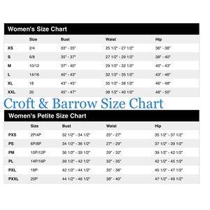 croft and barrow shoe size chart